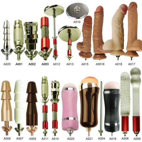 FREDORCH 25 Types Sex Machine Accessories for F11